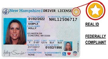 Sample photo of Real ID