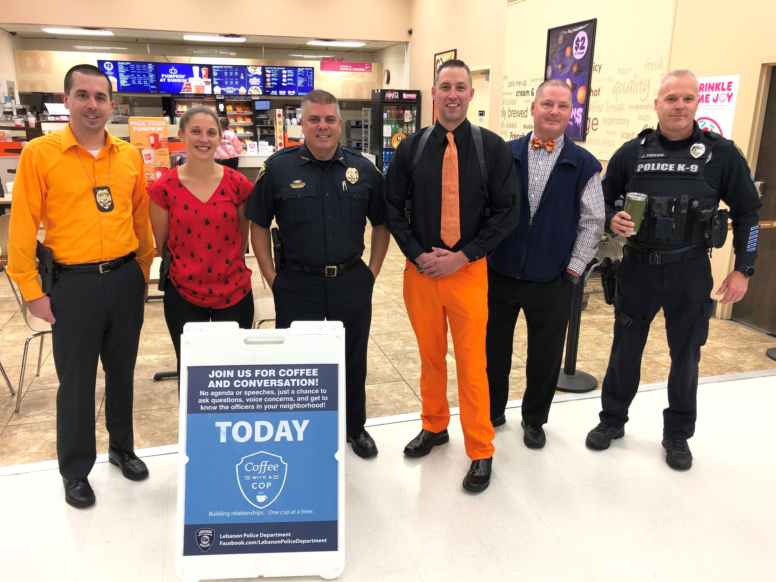 Lebanon Officers at Coffee with a Cop