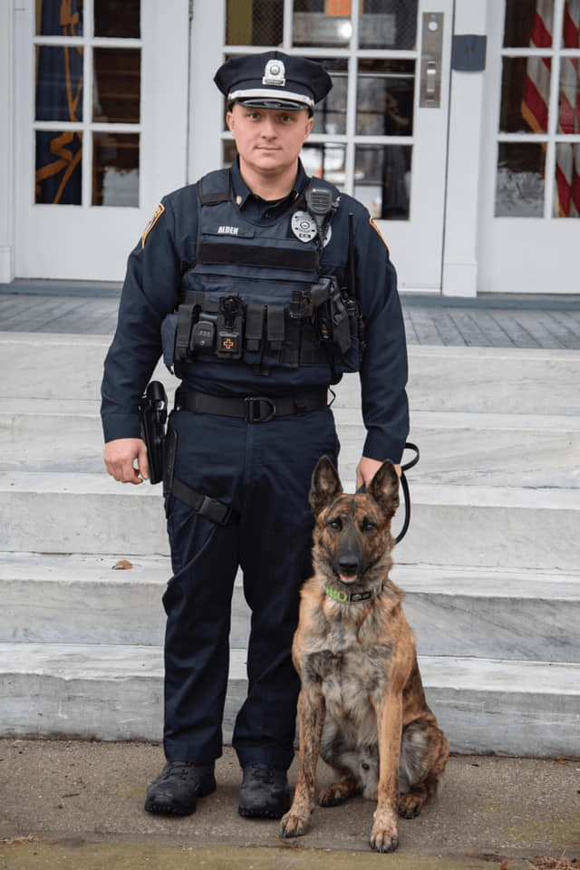 Officer Alden and K9 Nitro graduation