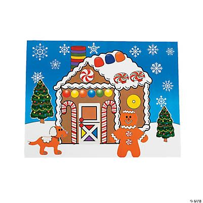 DIY Gingerbread House Sticker Scene