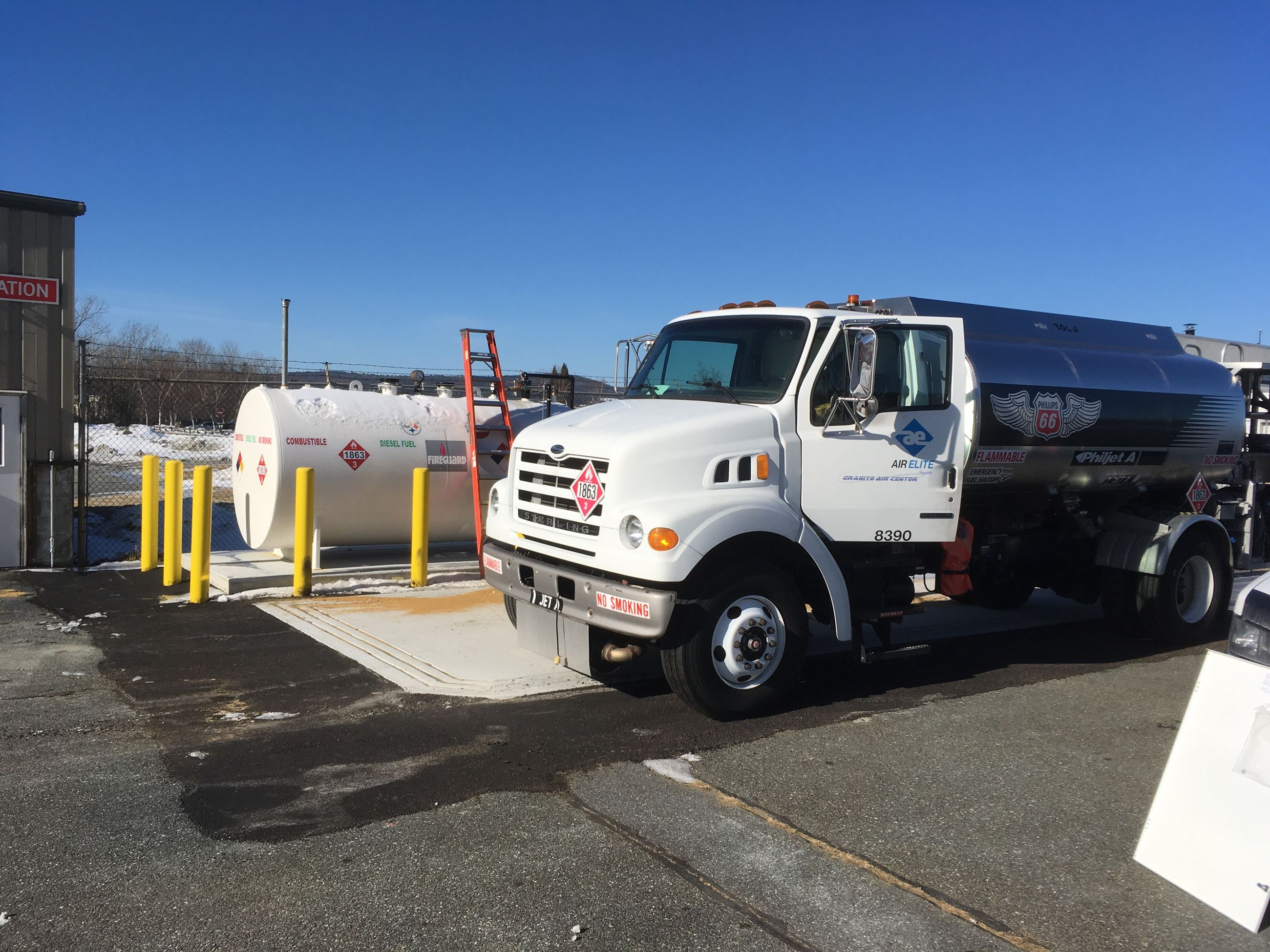 Lebanon Airport Diesel Goes Above Ground photo of truck