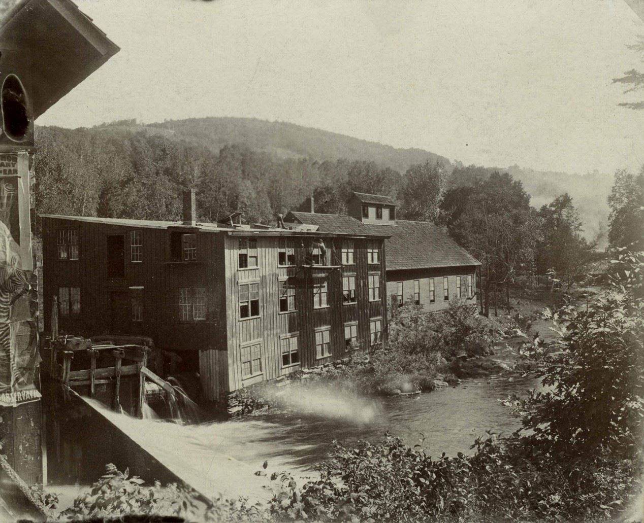 black and white photo of Mill Parcel (Slate Mill)