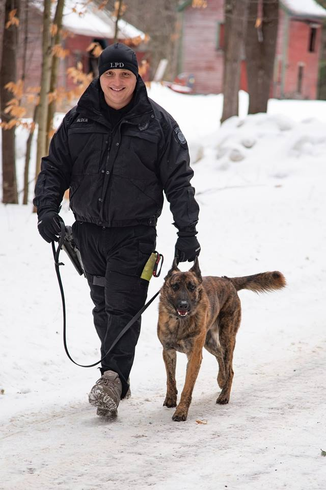 Officer Alden and K9 Nitro