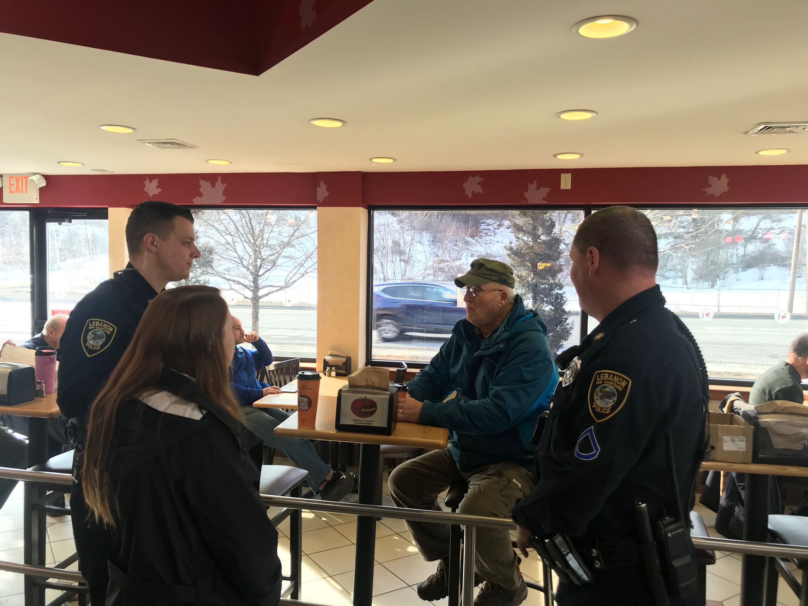Officer Payne and Officer Kapuscinski at Coffee with a Cop