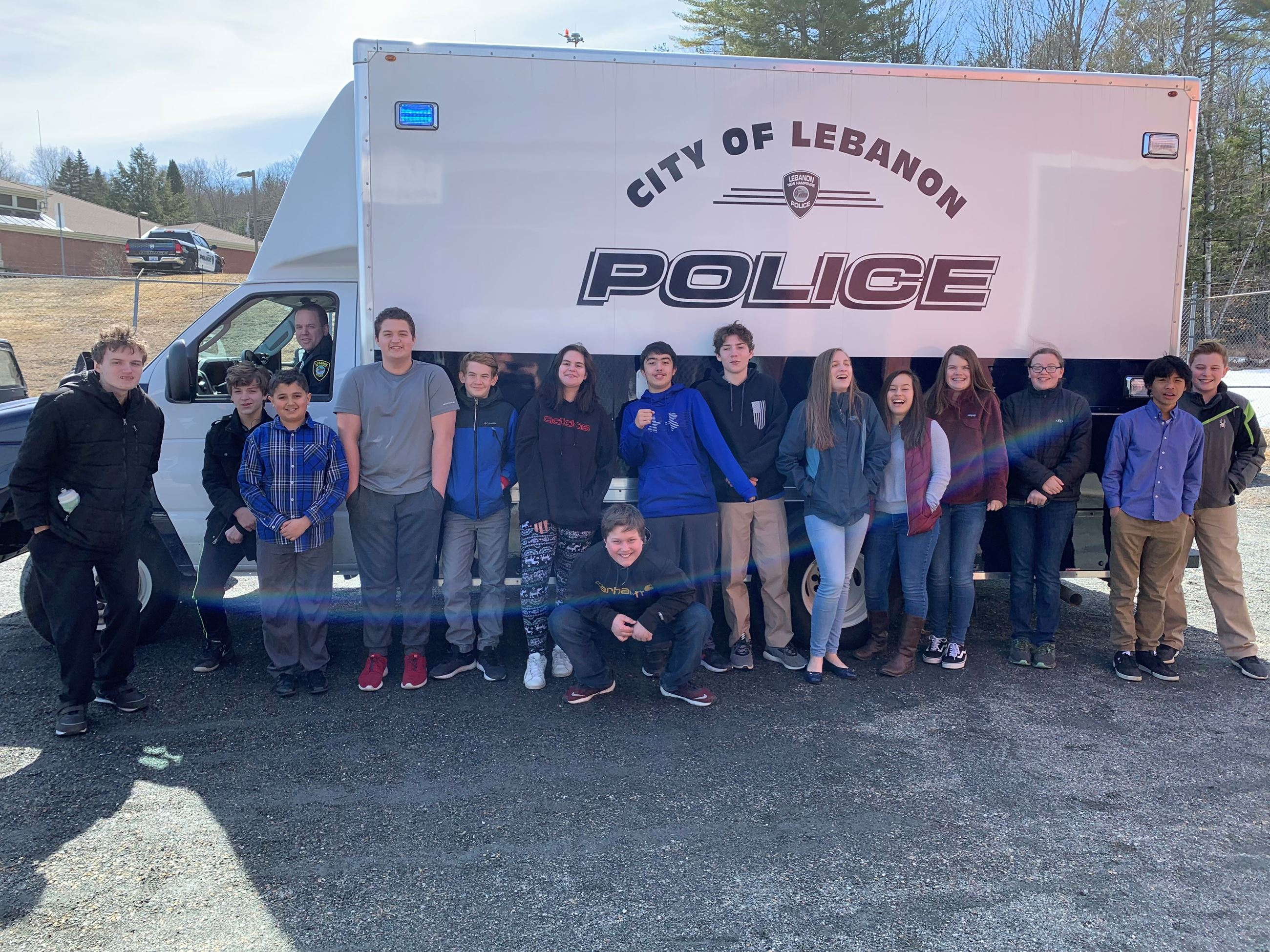 Group photo with command truck