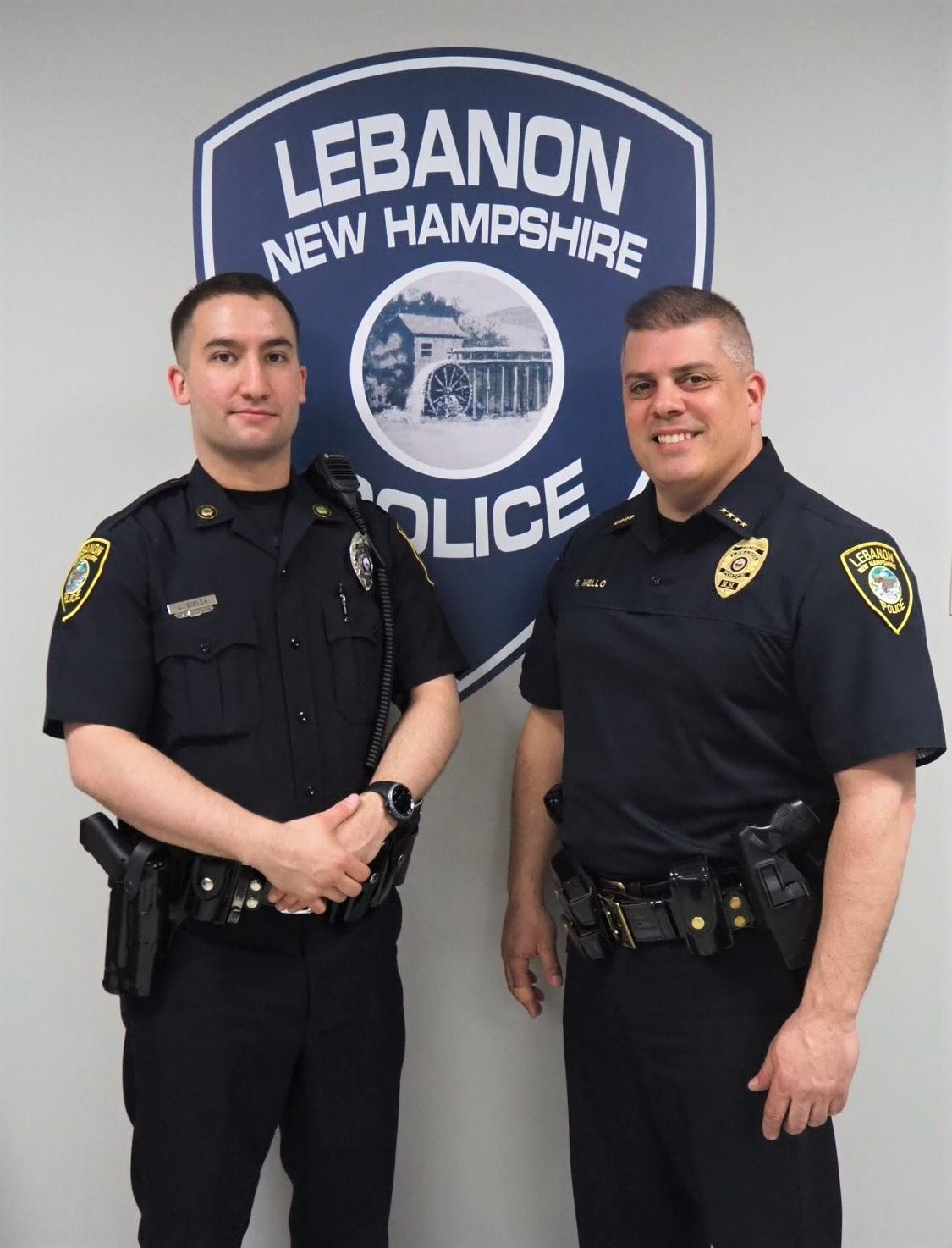 Photo of Officer Scelza and Chief Mello